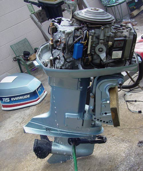 Used Small Boat Engines For Sale: 115 Hp Evinrude Outboard Boat Motor For Sale