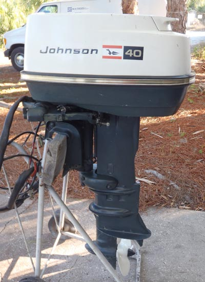 1971 40 hp johnson outboard antique boat motor for sale for 40 hp evinrude outboard motor for sale