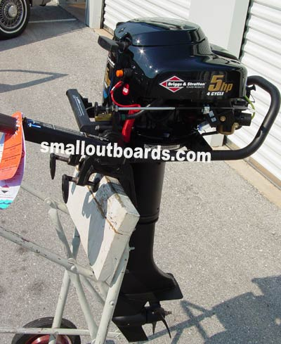 5 hp briggs and stratton outboard boat motor free shipping for Briggs and stratton 5hp motor