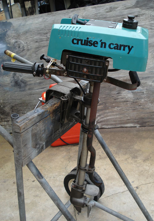 2 7 Hp Cruise N Carry Outboard Boat Motor For Sale