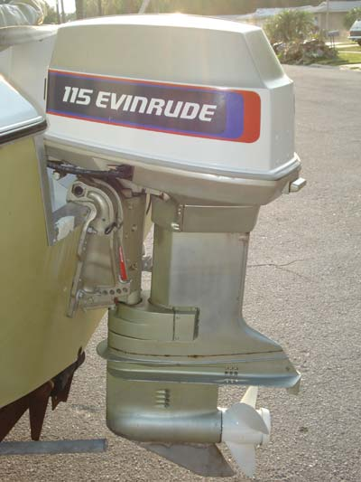 evinrude 115 hp outboard boat motor for sale