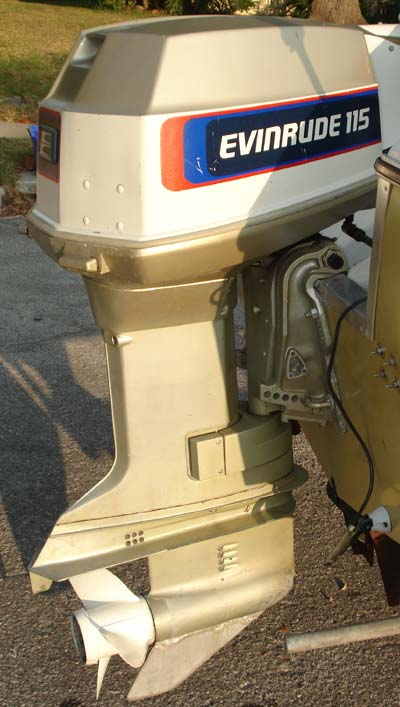 How To Clean Engine Bay >> Evinrude 115 hp Outboard Boat Motor For Sale