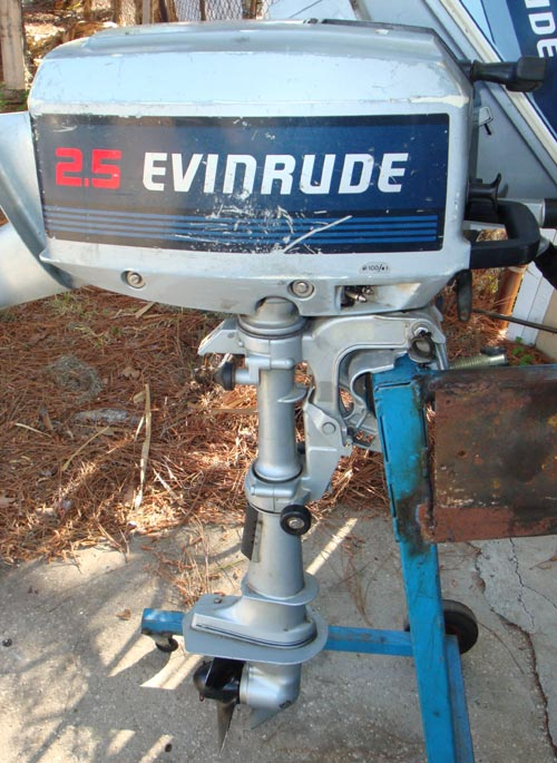 Used 2 5 Hp Evinrude Outboard Boat Motor Johnson 3 Hp