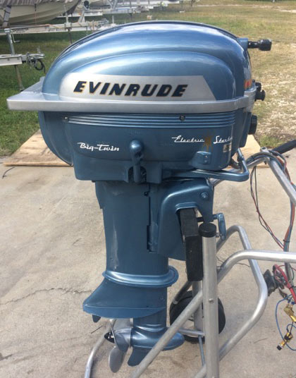 1955 25 Hp Evinrude Antique Outboard Boat Motor For Sale
