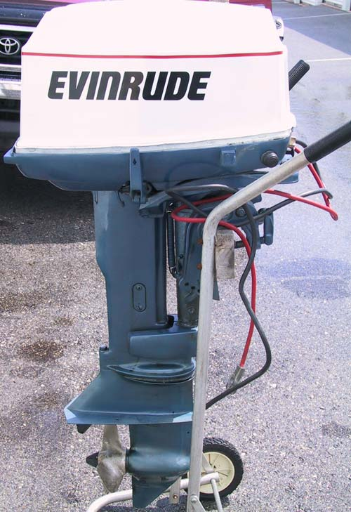 evinrude hp outboard motor 25hp johnson omc motors boat outboards smalloutboards serial side