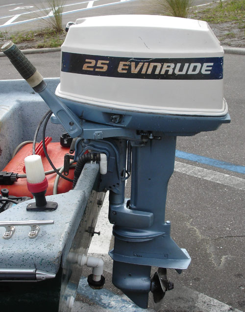 25 hp evinrude outboard boat motor for sale