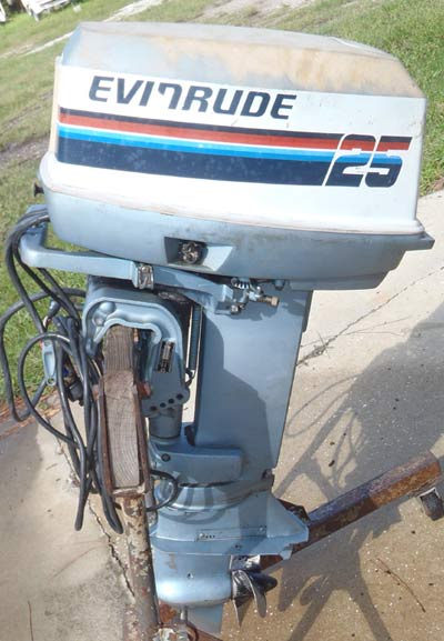 outboard evinrude hp motor 25hp boat ship smalloutboards