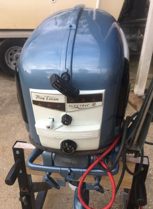 Evinrude 15 Hp >> 1956 30 hp Evinrude Outboard Antique Boat Motor For Sale