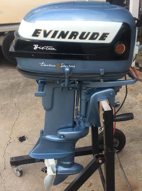 1956 30 hp evinrude outboard antique boat motor for sale for Bass boats with evinrude motors