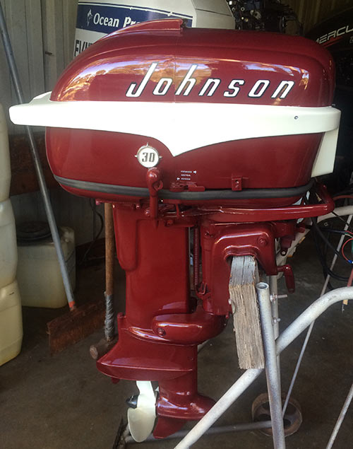 1956 30 Hp Johnson Javelin Restored Outboard Boat Motor