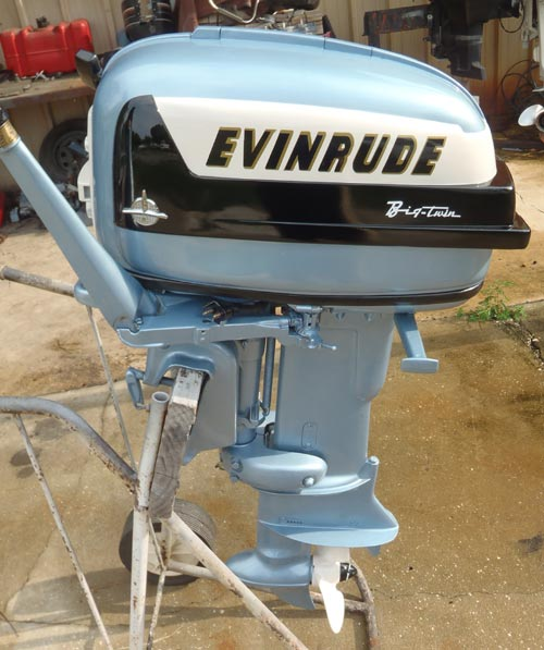 Used Small Boat Engines For Sale: 1957 35 Hp Evinrude Outboard Antique Boat Motor For Sale