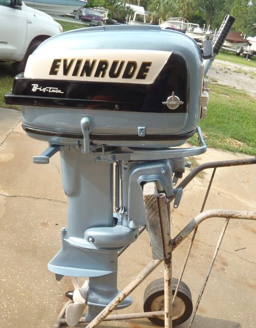 1957 35 Hp Evinrude Outboard Antique Boat Motor For Sale
