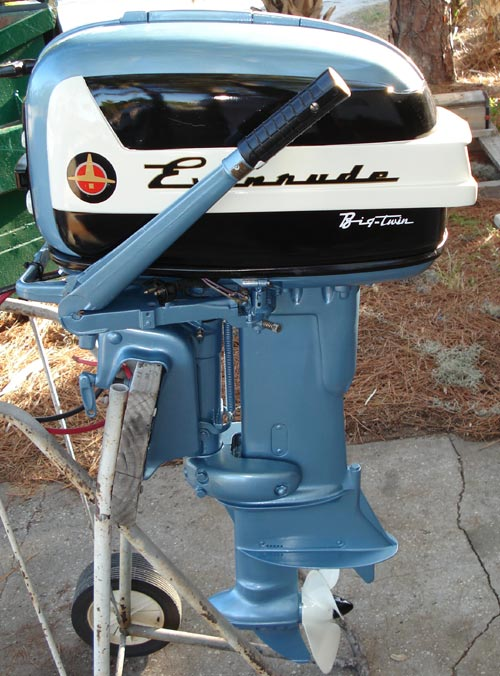 1957 35 hp evinrude outboard antique boat motor for sale for Motors for boats for sale
