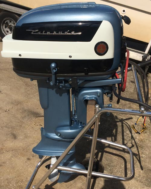 25 Hp Evinrude For Sale >> 1958 35 hp Evinrude Outboard Antique Boat Motor For Sale