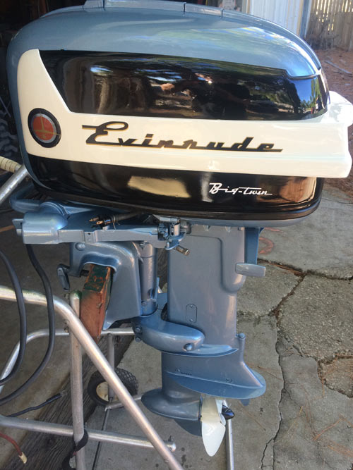 Evinrude 15 Hp >> 1958 35 hp Evinrude Outboard Antique Boat Motor For Sale