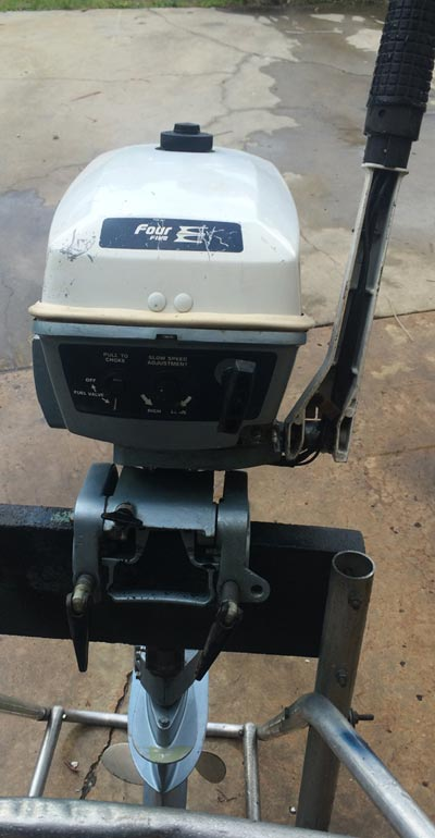 Used 4 5 Hp 5 Hp Evinrude Outboard Boat Motor For Sale