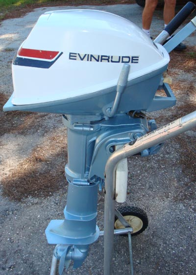 used 4 hp evinrude 2 cylinder outboard boat motor