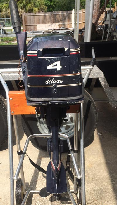 Evinrude 15 Hp >> Used 4 hp Evinrude Deluxe 2 Cylinder Outboard Boat Motor