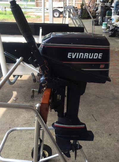 Used 4 Hp Evinrude Deluxe 2 Cylinder Outboard Boat Motor
