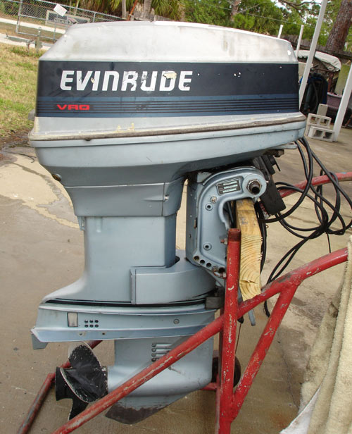 Used 50 hp evinrude outboard boat motors for sale for Honda outboard motors for sale used