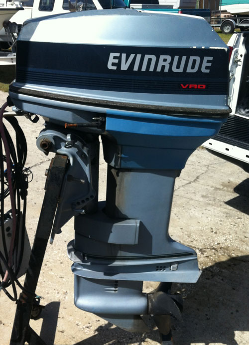 Used 50 hp evinrude outboard boat motors for sale for 15 hp motor weight