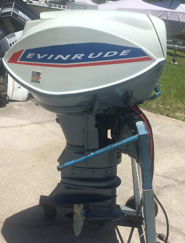 1966 60 Hp Evinrude Outboard Boat Motor For Sale Fully