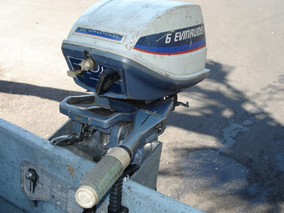 Used 6 Hp Evinrude Outboard Motor Fisherman