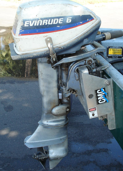 Used 6 hp evinrude outboard motor fisherman for 6hp boat motor for sale