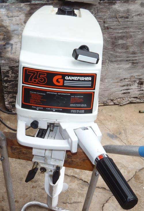 Front on Gamefisher 15 Hp Outboard