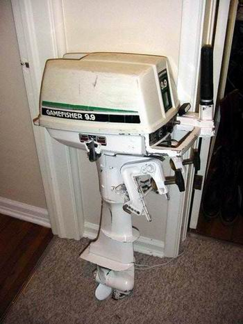 Used 9 9 10 hp sears gamefisher outboards boat motor for sale for Best 8 hp outboard motor
