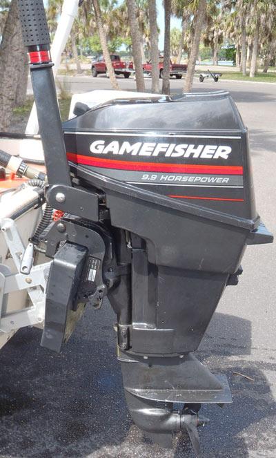 Motors For Sale >> 9.9 hp Gamefisher short shaft outboard motor for sale