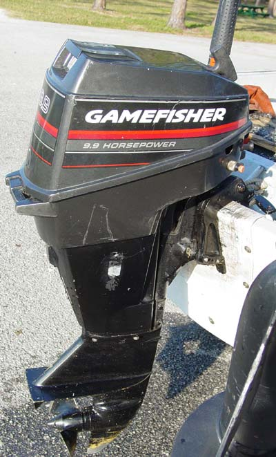 9 9 Hp Gamefisher Ooutboard Boat Motor For Sale