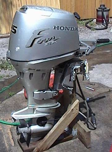 Used honda 25 hp outboard for sale 4 stroke honda for Small honda motors for sale