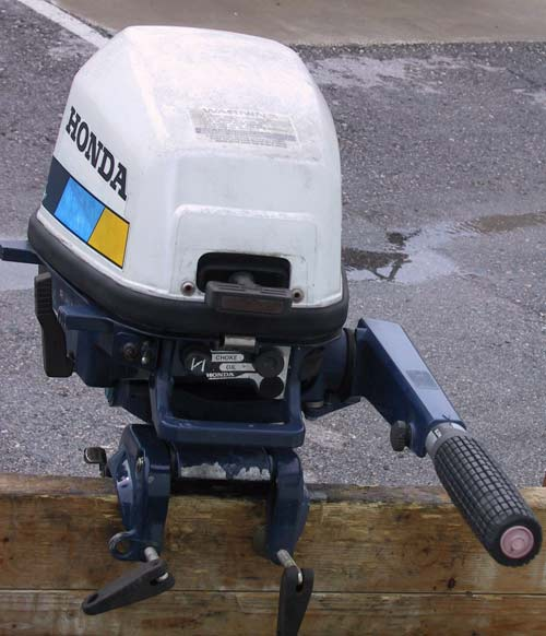 Used Small Boat Engines For Sale: Honda 5 Hp Outboard 4 Stroke Long Shaft Honda Outboards