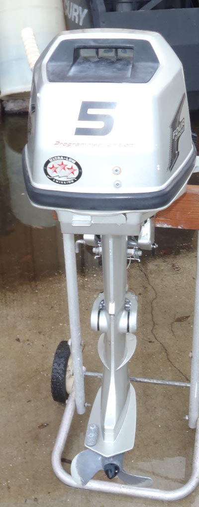 Sold honda 5 hp outboard boat motor for sale for Small honda motors for sale