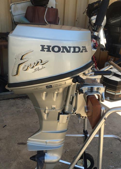 Used 8 hp Honda 4 Stroke Outboard Boat Motor