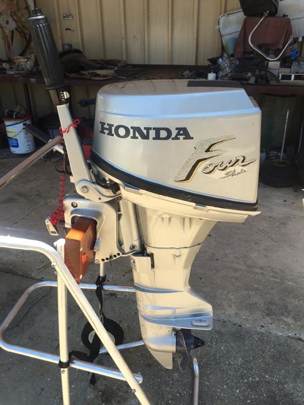 Used 8 hp honda 4 stroke outboard boat motor for Used honda boat motors