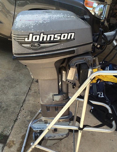 Long shaft johnson 15 hp outboard for sale for Small 2 stroke outboard motors for sale