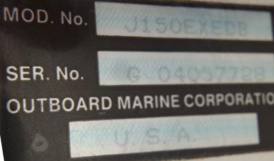 150 hp johnson ocean runner outboard motor for sale for Johnson motor serial number
