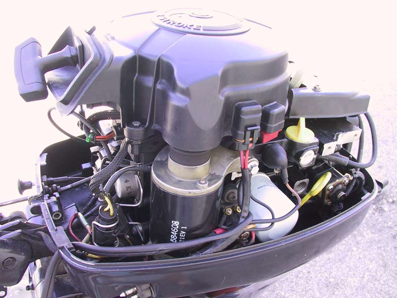 Used Evinrude Johnson 15 hp 4 Stroke Outboard For Sale Boat