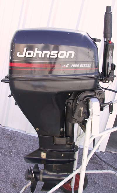Used Evinrude Johnson 15 hp 4 Stroke Outboard For Sale Boat Motor