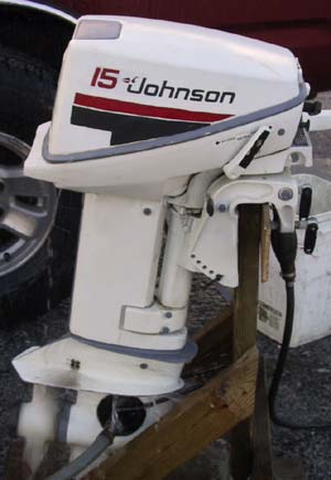Used 15 hp Johnson OMC Portable Outboard Engine For Sale