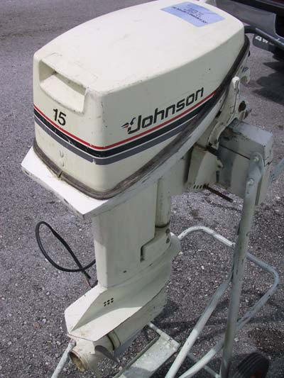 Used Johnson 15 Hp Outboard Boat Motor For Sale