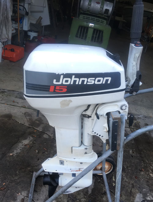 Johnson Boat Motors >> 15 hp Johnson Outboard