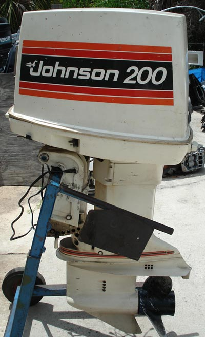200 hp johnson outboard boat motor for sale looper v 6 for Used 175 hp outboard motors for sale