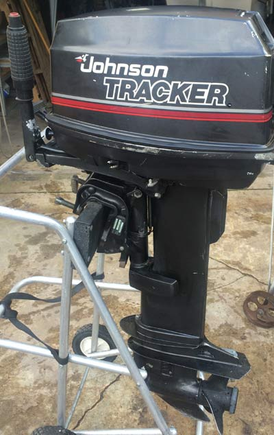 Motors For Sale >> Johnson 20 hp Tracker Long Shaft.