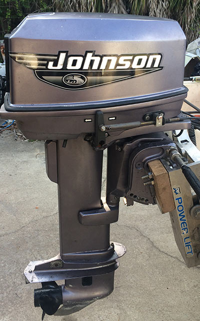 25 Hp Johnson Remote Control Electric Start Outboard