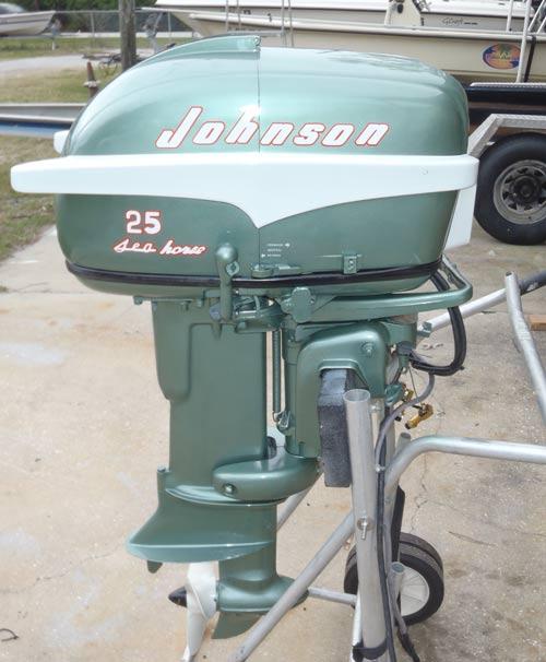 1956 30 hp johnson javelin restored outboard boat motor for 25 hp johnson outboard motor