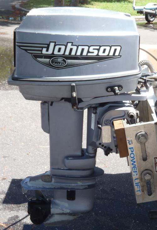 30hp Johnson Outboard Boat Motor For Sale Tiller Model Electric Start Short Shaft