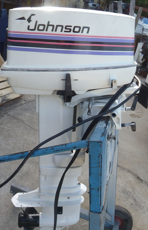 "Trade In Value >> 30 hp Johnson Outboard Boat Motor 20"" long shaft."